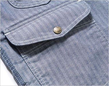 LWV19001 Lee ジップアップベスト(男女兼用) 深さのある左右のフラップ付ポケット