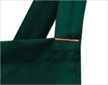 27328 BONUNI(ボストン商会) 胸当てカフェX型エプロン(男女兼用) 補強も兼ねたデザインポケット