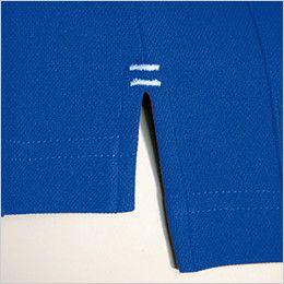 バートル 103 ハニカムメッシュ長袖ポロシャツ(胸ポケット有) スリット部分カラーカン止め