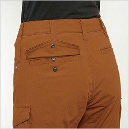 バートル 5519 [春夏用]綿100%リップクロスレディースカーゴパンツ 裾上げNG(女性用) サイズチップ・ピスフラップ