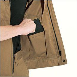 バートル 6081 [春夏用]制電T/Cライトチノジャケット(JIS T8118適合)(男女兼用) 内ポケット