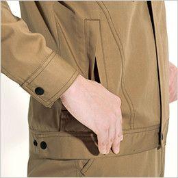 バートル 6081 [春夏用]制電T/Cライトチノジャケット(JIS T8118適合)(男女兼用) 逆玉ポケット