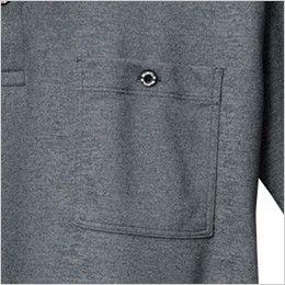 バートル 667 [春夏用]ドライメッシュ半袖ポロシャツ(男女兼用)  ボタン止めポケット
