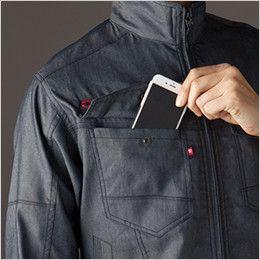 バートル 7041 [春夏用]ストレッチドビー長袖ジャケット(男女兼用)  Phone収納ポケット