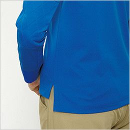 バートル 707 トリコット半袖ワークシャツ(男女兼用) スリット