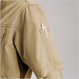 バートル 7092 [春夏用]ドビークロス半袖ジャケット(JIS T8118適合)(男女兼用) ペンポケット