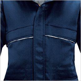 バートル 7111 パイピング防寒コート(男女兼用) リフレクターバイビングデザイン