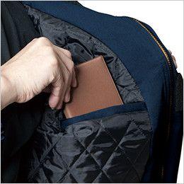 バートル 7111 パイピング防寒コート(男女兼用) 内ポケット