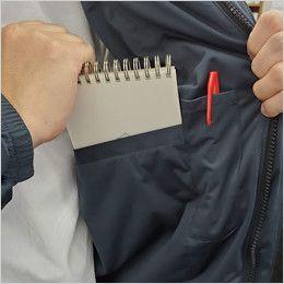 バートル 7410 防風ストレッチ軽量防寒ブルゾン(男女兼用) 内ポケット