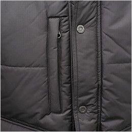 バートル 7510 リップクロス防寒ジャケット(大型フード付)(男女兼用) ファスナーポケット付