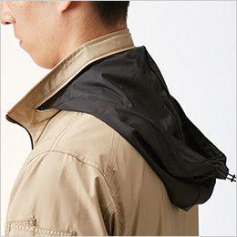 AC1111SET バートル エアークラフトセット[空調服]長袖ジャケット(男女兼用) ポリ100% 収納式フード(スピンドル付き)(全色ブラック)