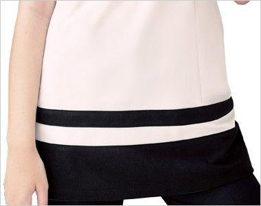 CL-0203 キャララ(Calala) チュニック 裾ブラック(女性用) 女性に嬉しい長めの着丈で安心