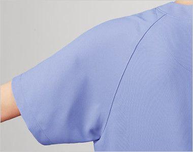 MZ-0018 ミズノ(mizuno) 人気No1スクラブ (男女兼用) スプリットラグランスリーブは襟ぐりから袖下に切替をいれることで、肩や腕が動かしやすい仕様