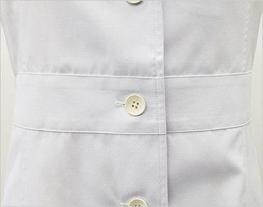 MZ-0057 ミズノ(mizuno) 七分袖 レディースドクターコート・シングル(女性用) 腰高効果のあるベルト付き