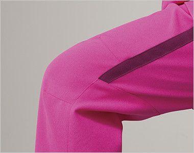 MZ-0091 ミズノ(mizuno) スクラブパンツ(男女兼用)股下マチ 両ひざ ダーツを入れ立体感を出す事で、膝の動きをサポートし動きやすい。歩行やかがむ作業など、どんな動きにも対応し快適な着用感です。