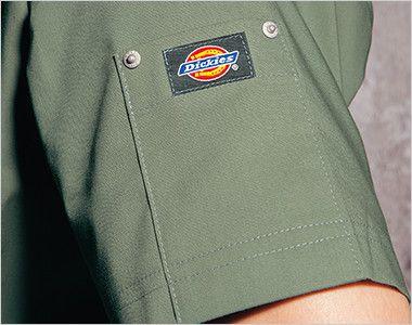7033SC FOLK(フォーク)×Dickies スクラブ(男女兼用) ディッキーズロゴ入りリベットポケット