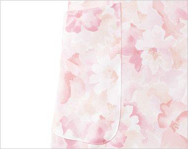 7034SC FOLK(フォーク)/フラワー レディース花柄ジップスクラブ(女性用) ポケット付き