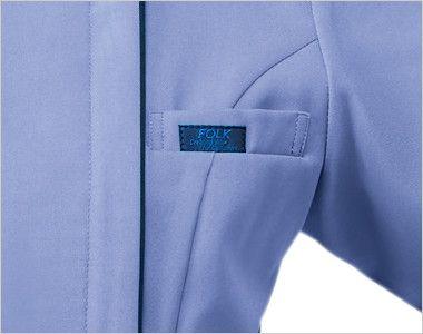 7050SC FOLK(フォーク) レディス ジップスクラブ(女性用) 箱ポケット付き