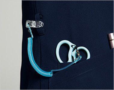 HI702 ワコール レディススクラブ(女性用) カラビナループとポケットはデザイン性の高いクロスダブルポケット