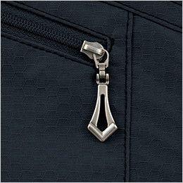 自重堂 51604 [秋冬用]JAWIN 長袖シャツ(年間定番生地使用) デザインファスナー持ち手