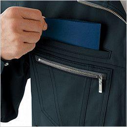 自重堂 51804 [秋冬用]JAWIN 長袖シャツ(年間定番生地使用)(新庄モデル)  二重ポケット