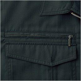 自重堂 55214 [春夏用]JAWIN 半袖シャツ ファスナーポケット