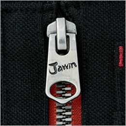 自重堂 55354 [春夏用]JAWIN 鹿の子半袖ポロシャツ ロゴ入りスライダー