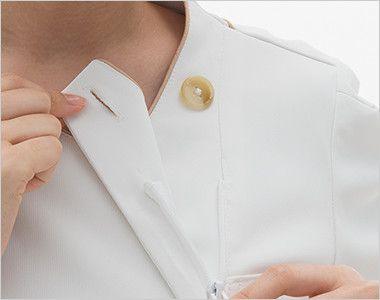 LH6272 ナガイレーベン(nagaileben) ビーズベリー チュニック半袖(女性用) 内側はボタンとファスナー