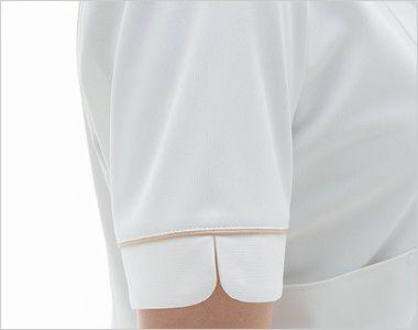LH6272 ナガイレーベン(nagaileben) ビーズベリー チュニック半袖(女性用) 女性らしい優しさを感じさせるかわいい袖