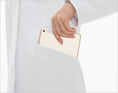 SD3040 ナガイレーベン(nagaileben) シングル診察衣長袖(女性用) タブレットが収納できる脇ポケット