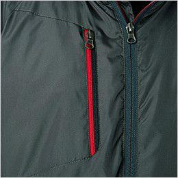 43800 桑和 かっこいい防寒ジャケット 右胸 ファスナーポケット