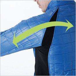4226 TS DESIGN マイクロリップロングスリーブジャケット(男女兼用) ストレッチ(両脇・袖・背中)