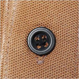 51055 TS DESIGN ワークニットショートポロシャツ(男女兼用) 金属ボタン