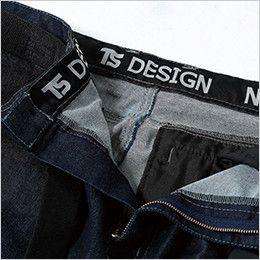 5114 TS DESIGN 綿100%ソフトチノクロス&ストレッチデニムカーゴパンツ(男性用) 帯裏デザイン