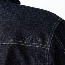 5116 TS DESIGN 綿100%ソフトチノクロス&ストレッチデニム長袖ジャケット(男女兼用) オリジナル刺繍