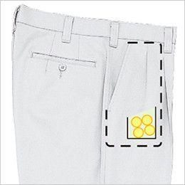 ジーベック 1263 ツータック プリーツロンミニハイブリッドラットズボン コインポケット付き