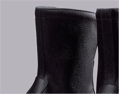 ジーベック 85024 安全半長靴 樹脂先芯 ひもなしのシンプルデザイン