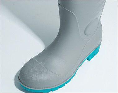ジーベック 85764 耐油セフティ長靴 スチール先芯 PCVインジェクション製法での成型なので、貼り合わせがなく水漏れの心配がありません