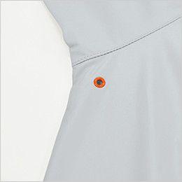 KU90510 [春夏用]空調服 長袖ブルゾン ポリ100% ワンポイントのアイレット付
