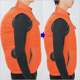 ジーベック XE98009SET [春夏用]空調服セット 半袖ブルゾン ポリ100% 身頃の膨らみを抑えたシャープなシルエット
