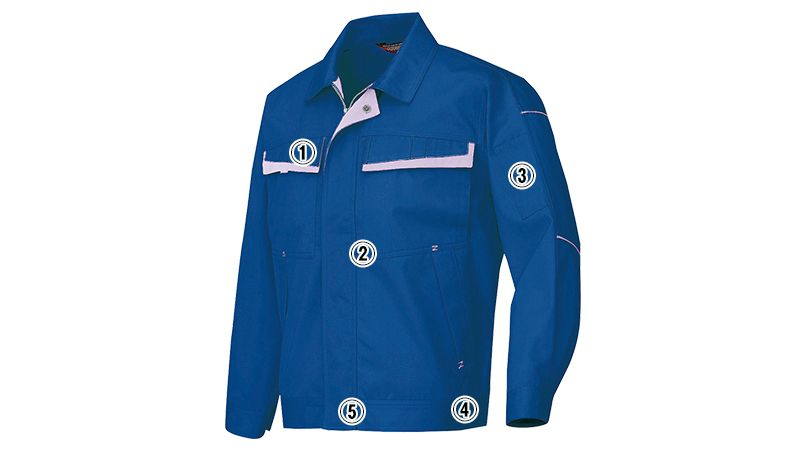 AZ6570 アイトス ムービンカットEX ストレッチ長袖ブルゾン(配色) 商品詳細・こだわりPOINT