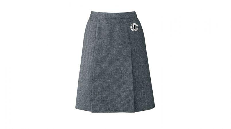 BONMAX LS2191 [通年]エミュ ペッパーツイード素材のプリーツスカート 無地 商品詳細・こだわりPOINT