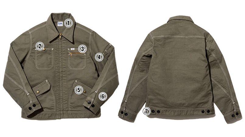 LWB06002 Lee ジップアップジャケット(男性用) 商品詳細・こだわりPOINT