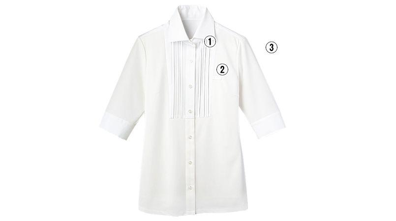 24216 BONUNI(ボストン商会) Tブラウス/五分袖(女性用) 商品詳細・こだわりPOINT