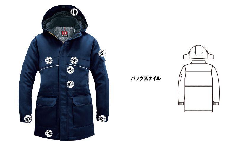 バートル 7111 パイピング防寒コート(男女兼用) 商品詳細・こだわりPOINT