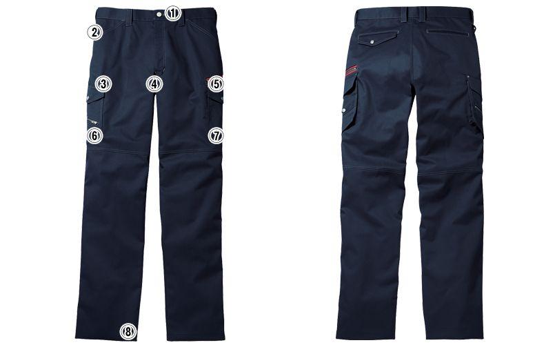 自重堂JAWIN 52102 ノータックカーゴパンツ(新庄モデル) 裾上げNG 商品詳細・こだわりPOINT