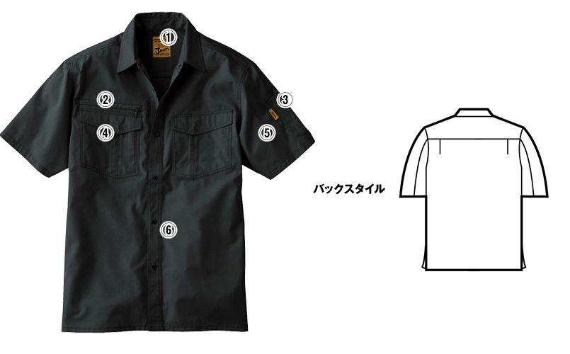 自重堂 55214 [春夏用]JAWIN 半袖シャツ 商品詳細・こだわりPOINT