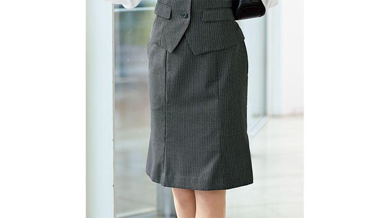 en joie(アンジョア) 51492 [通年]シックなグレーに映えるラベンダーストライプのマーメイドスカート 商品詳細・こだわりPOINT