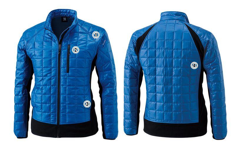 4226 TS DESIGN マイクロリップロングスリーブジャケット(男女兼用) 商品詳細・こだわりPOINT