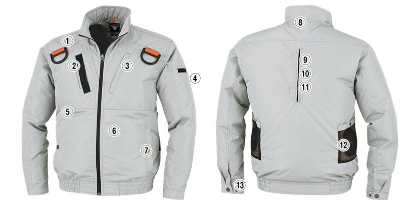 ジーベック XE98103SET [春夏用]空調服セット 遮熱 ハーネス対応 長袖ブルゾン ポリ100% 商品詳細・こだわりPOINT